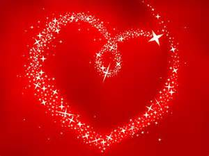 red sparkling heart